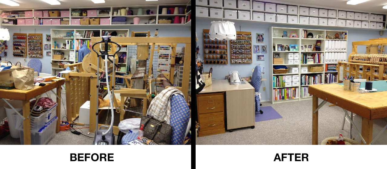 Craft room before after